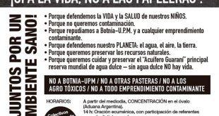 TODO SE CONFIRMÓ: UPM (BOTNIA) NOS DESTRUYE, EL 28/4 TODOS AL PUENTE